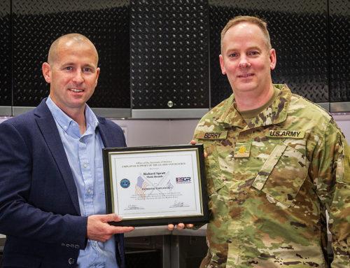 ESGR Recognizes MOTIS Brands CEO Richard Spratt with Patriot Award